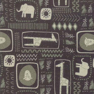 Safari Life - Black $11.49/ Yard