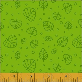 Scattered Leaves - Veridian $11.80/ Yard