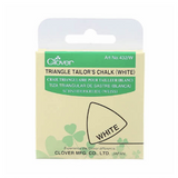 Clover Triangle Tailor's Chalk: White, Blue or Yellow