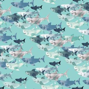 Shark Frenzy - Tide pool $11.99/ Yard