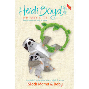 Sloth Mama & Baby Whimsy Kit