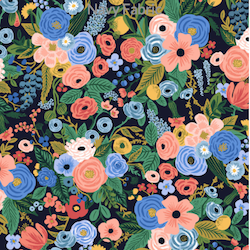 Garden Party Navy - $11.99/yd