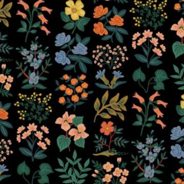 Wild Flower Field Black $20.25/yd