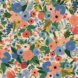 Garden Party Blue Linen - Cotton - $20.25/yd
