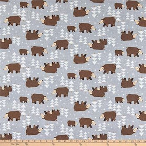Winterland Bears - Light Grey $11.49/ Yard