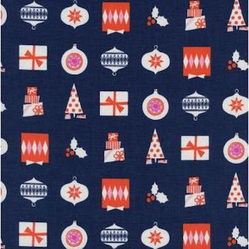 Wrapped Up - Navy $11.99/ Yard