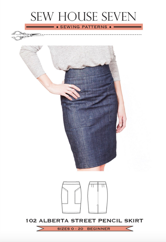 Sew House Seven- The Alberta Street Pencil Skirt