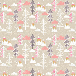Arctic Trees Taupe - $11.49/yd