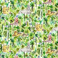 Jungle Cats- Multi $11.75 / Yard