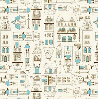 City Scene - Blue $11.99/yd