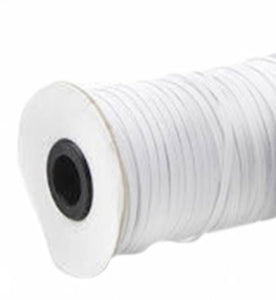 "Flat Elastic - 1/8"" White or Black"
