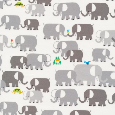 Elephants - 12.50/ Yard ORGANIC