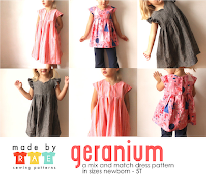 Geranium Dress 0-5 Years