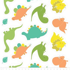 Dino Plush Cut Outs - Green $11.49/ Yard
