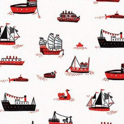 Ships - Red  $11.75/yd