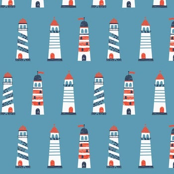 Light Houses - Blue $11.25/ Yard