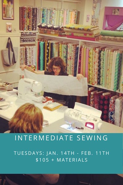 Intermediate Sewing- 1/14 - 2/11