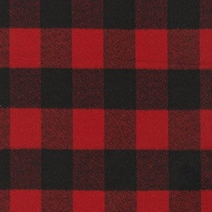Mammoth Flannel - Red $10.99/ Yard