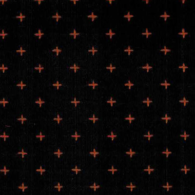 Stitched Woven - Black Orange $11.49/yd