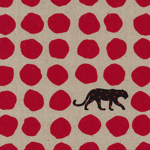 Japanese Linen: Panther Red 20.99/yd