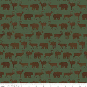 Send Me To The Woods - Silhouette Green $11.75 / Yard
