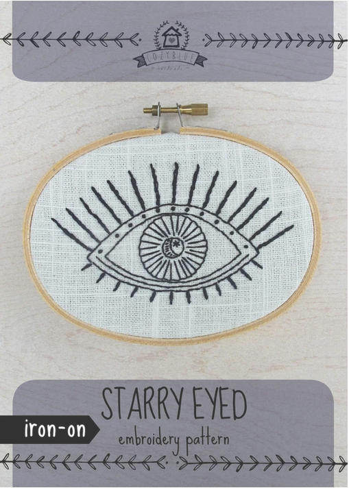 Cozy Blue - Starry Eyed Iron- On Embroidery Pattern