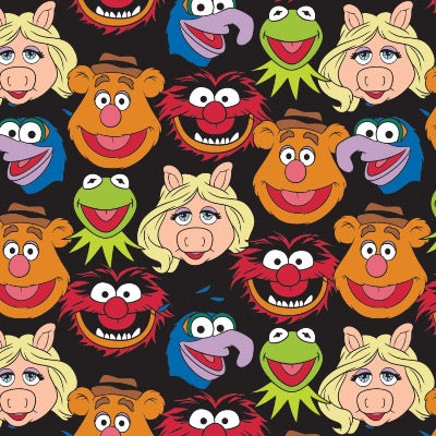 The Muppets Cast - Black $13.99/Yard
