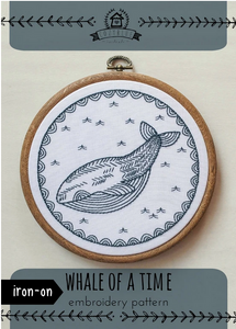 Cozy Blue - Whale of a Time Iron- On Embroidery Pattern