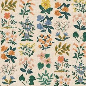 Wildflower Field in Natural $20.25/yd