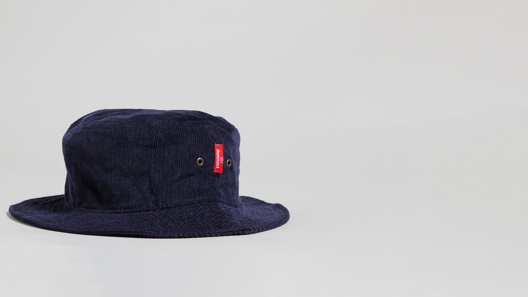 Bucket Hat - Navy Corduroy