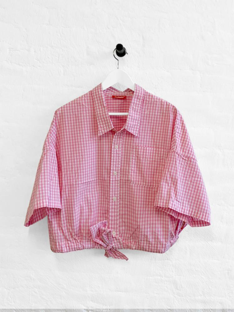 Short Sleeve Front Tie Shirt