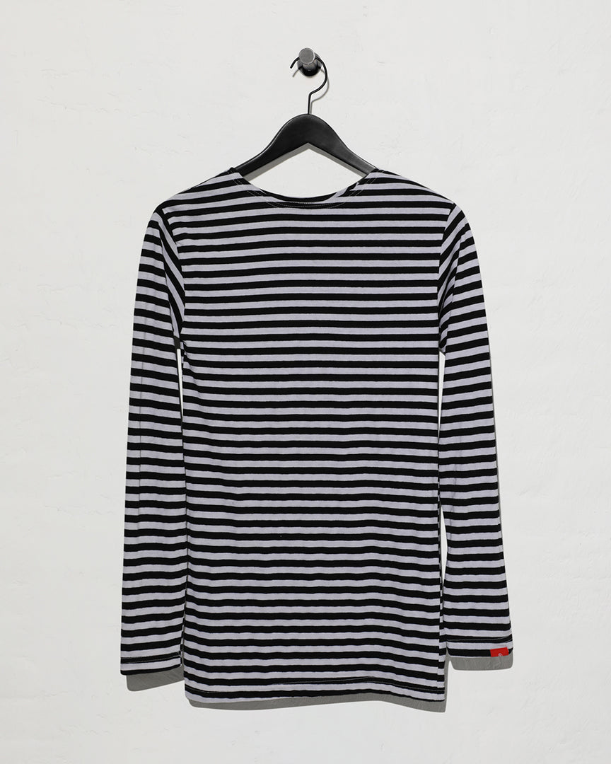 Striped T-shirt  - Black White Stripe