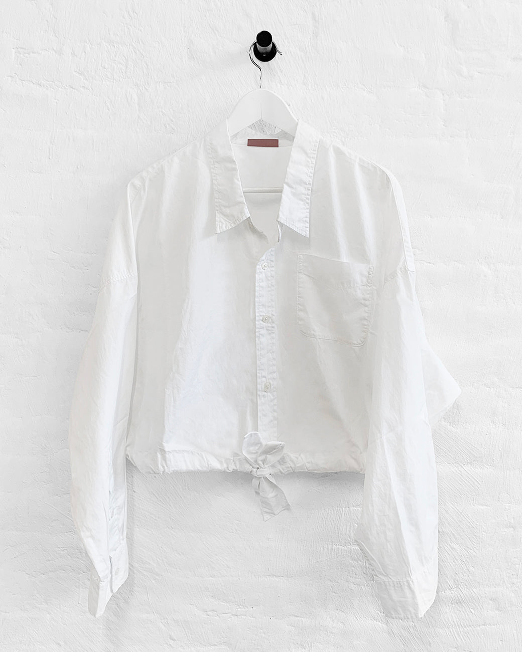 Long Sleeve Front Tie Shirt