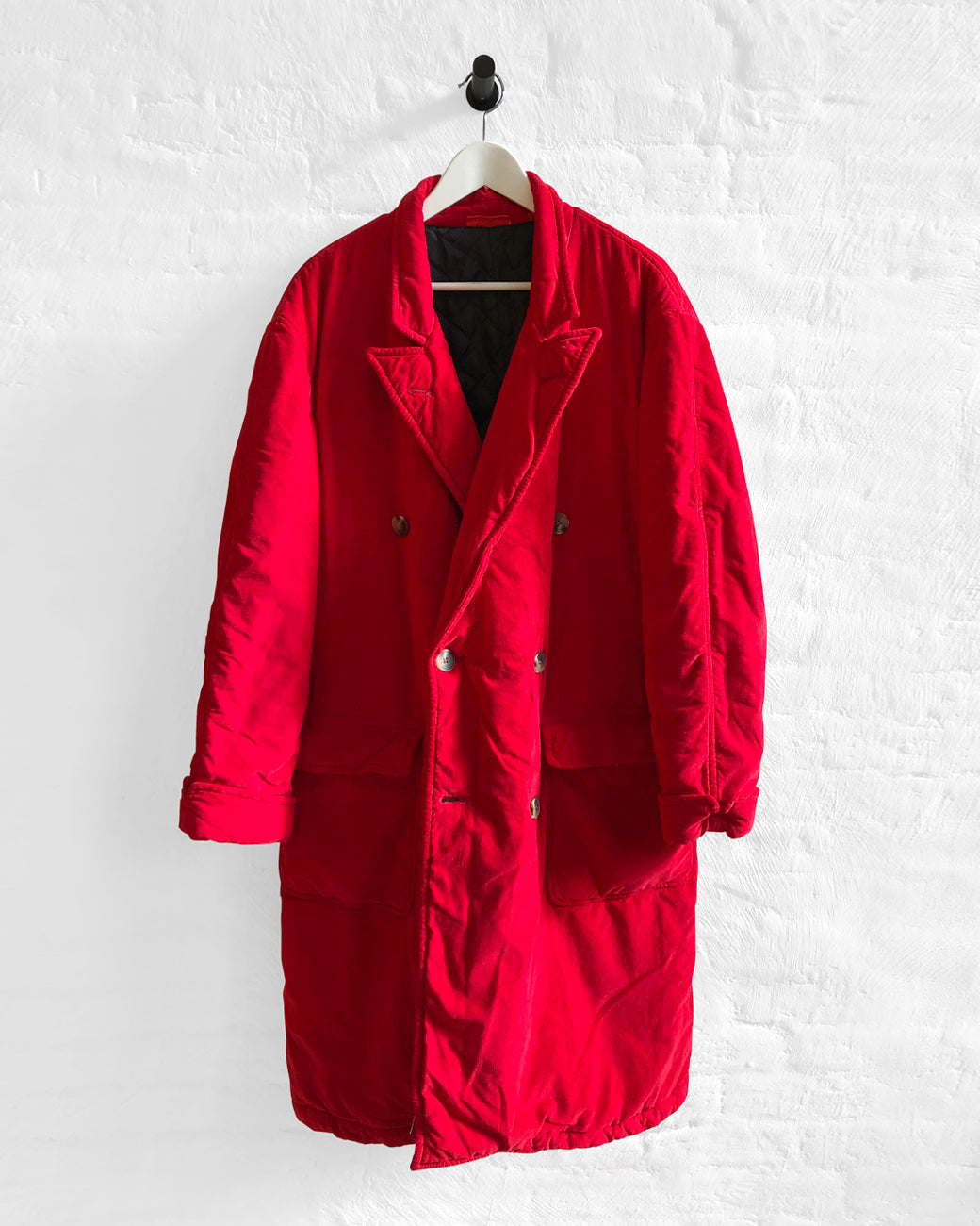 Peak Lapel Coat - Red