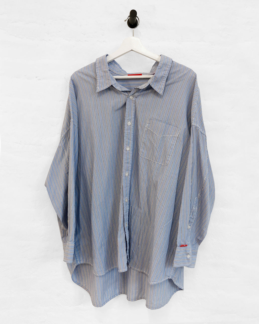 Button Front Shirt - Blue EOE Stripe