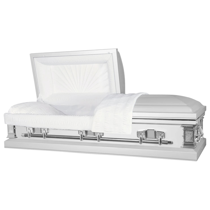 Our Guide to Buying a White Coffin or Casket