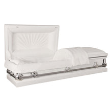 Titan Orion Series Steel Casket White Alternate Angle View