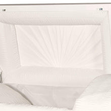 Titan Orion Series Steel Casket White Head Panel View