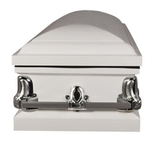 Titan Orion Series Steel Casket White Foot View