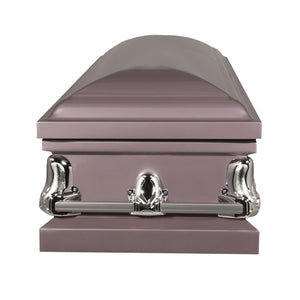 Titan Orion Series Steel Casket Orchid End View