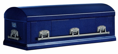 Standard Series Burial Vault | Deep River Blue Steel | 12-Gauge - Titan Casket