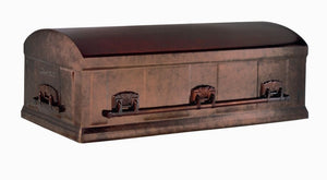 Enhanced Series Burial Vault | Statuary GALVANIZED Steel | 12-Gauge - Titan Casket