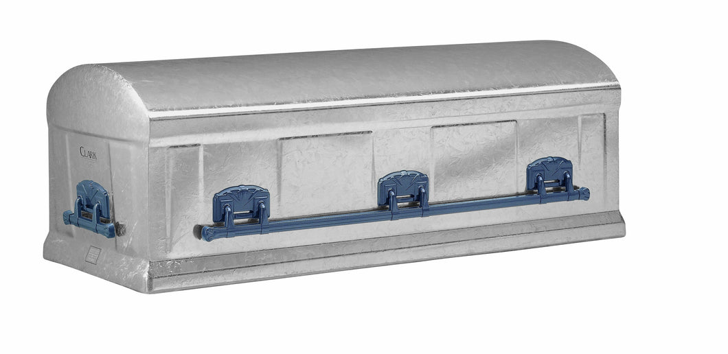 Enhanced Series Burial Vault | Silver GALVANIZED Steel | 12-Gauge - Titan Casket