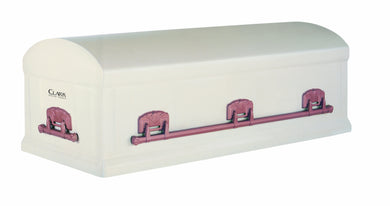 Standard Series Burial Vault | White Rose Steel | 12-Gauge - Titan Casket