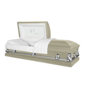 Titan Orion Series | Almond Steel Casket with White Interior - Titan Casket