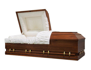 Major XL | Poplar Wood Oversize Casket with White Interior and Walnut Satin Stain | 30