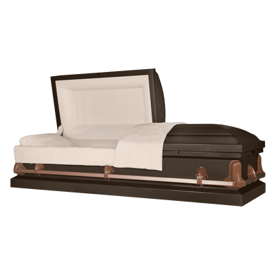 Andover Series | Bronze Steel Casket with Rosetan Interior - Titan Casket