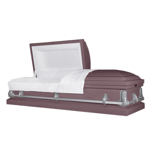 Titan Andover Series | Orchid Steel Casket with White Interior - Titan Casket