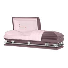 "Load image into Gallery viewer, Titan Atlas XL | Orchid Steel Oversize Casket with Pink Interior | 150+ Head Panel Options | 28"", 29"", 33"", 36"" - Titan Casket"