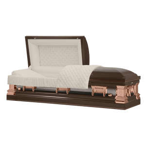 Titan Era Series | Bronze Stainless Steel Casket with Rosetan Interior - Titan Casket